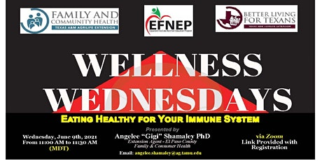 Wellness Wednesday's-Eating Healthy for Your Immune System tickets