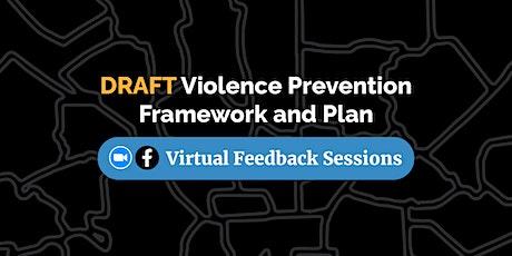 Latinx Community Feedback Session / Plan de Prevención de Violencia entradas