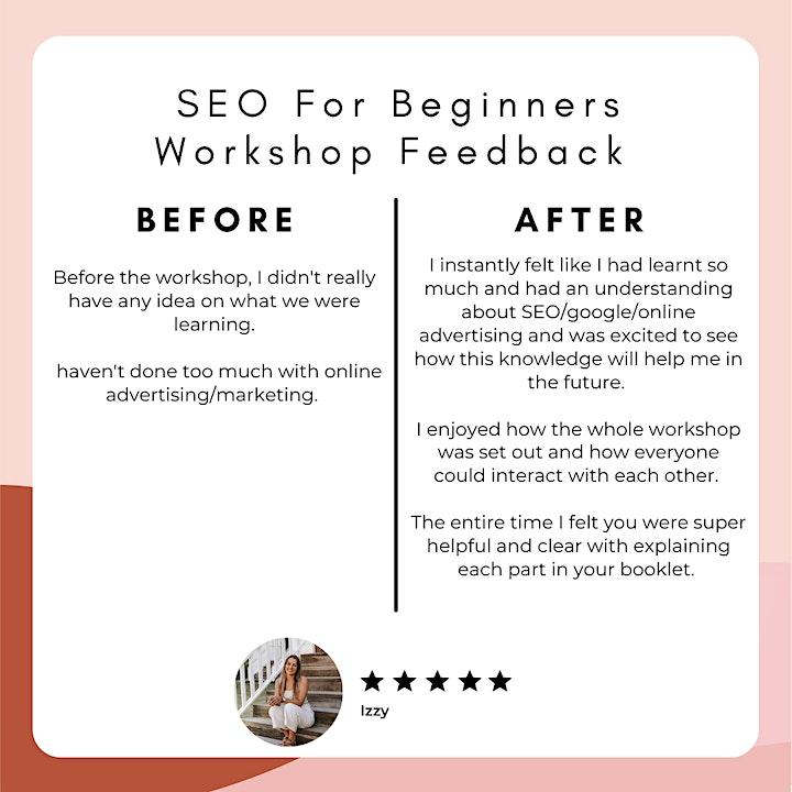 SEO For Beginners, Sunshine Coast Workshop image