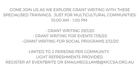 Grant Writing Successful Communities Training -Multicultural Communities tickets