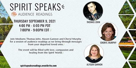 Spirit Speaks - Audience Readings tickets