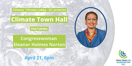 Climate Town Hall with Eleanor Holmes Norton tickets