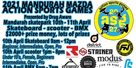 2021 MANDURAH ACTION SPORTS GAMES - Skate, Scooter, BMX Competition tickets