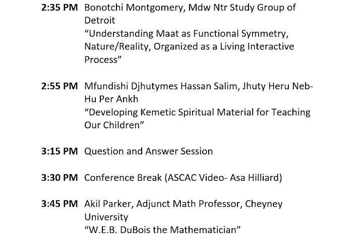 37th Ancient Kemetic  (Egyptian) Studies Conference April 9-April 17,2021 image