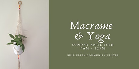 Mindful Macrame and Yoga  - Plant hanger tickets