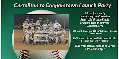 Carrollton to Cooperstown tickets