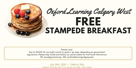 Oxford Free Stampede Breakfast tickets