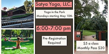 Yoga in Saint Clair Park tickets