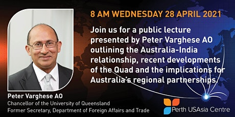 Public Lecture with Peter Varghese AO Livestream tickets
