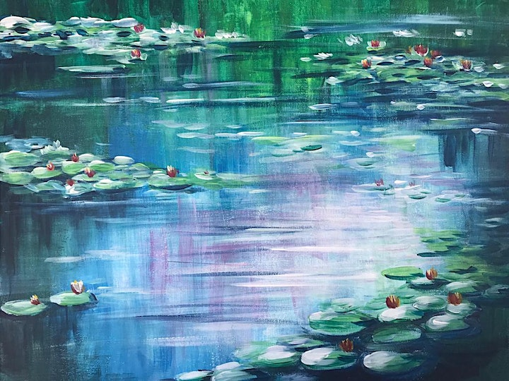 Chill & Paint Friday Night at  Auck City Hotel  - Monet Water Lily! image
