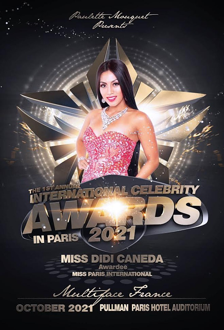 TICKETS VIP  GUESTS   at the  International Celebrity Awards Paris  2021 image