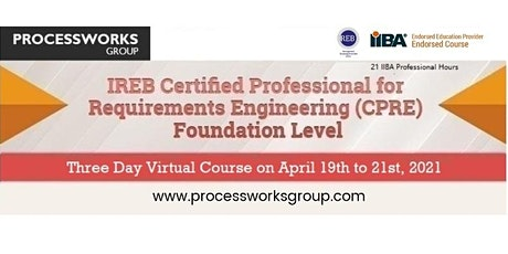 IREB Certified Professional for Requirements Engineering (CPRE) –  FL tickets