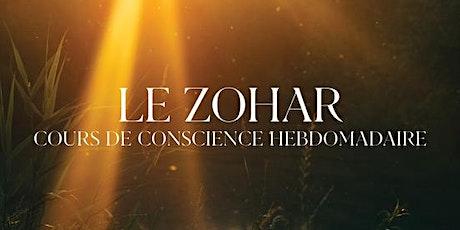 LE ZOHAR – Cours de Conscience Hebdomadaire boletos