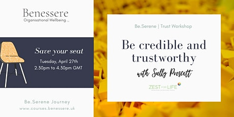 Be confident and trustworthy biglietti
