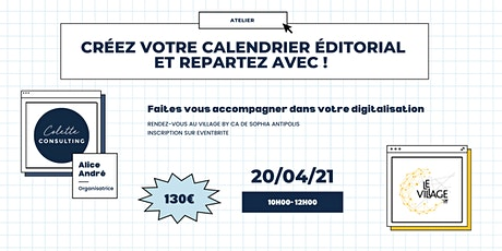 Atelier : Créez votre calendrier editorial et repartez avec ! billets