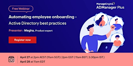 Automating employee onboarding — Active Directory best practices tickets