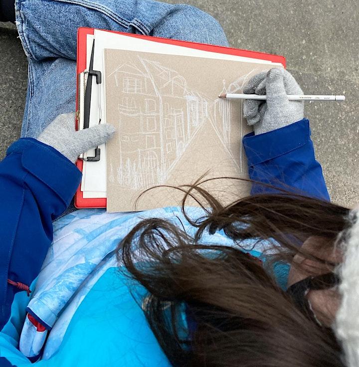 Outdoor-Zeichenkurs | Rund ums Haus | Für 6- bis 10-Jährige: Bild