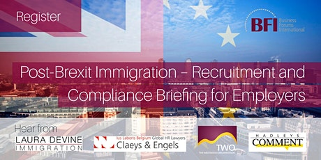 Post-Brexit Immigration – Recruitment and Compliance Briefing for Employers tickets