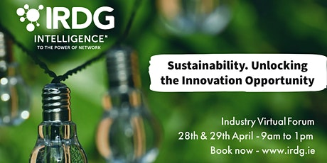 Sustainability. Unlocking the Innovation Opportunity. tickets