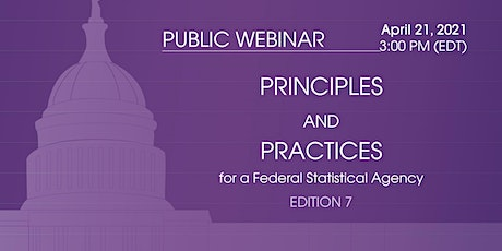 CNSTAT Seminar: Principles and Practices for a Federal Statistical Agency tickets