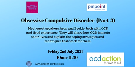 OCD Part 3 - Lived experience stories by live speakers plus recording tickets