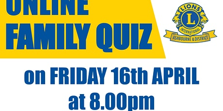 Ashbourne Lions Online Family Quiz tickets