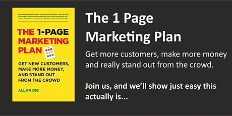 The One Page Marketing Plan tickets