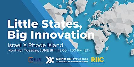 [VIRTUAL SERIES] Little States, Big Innovation: Israel x Rhode Island ingressos
