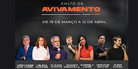 CULTO DE AVIVAMENTO COM PR CHRIS DURAN 10/04 ingressos