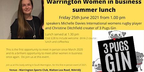 Warrington Women in Business Summer Networking lunch tickets