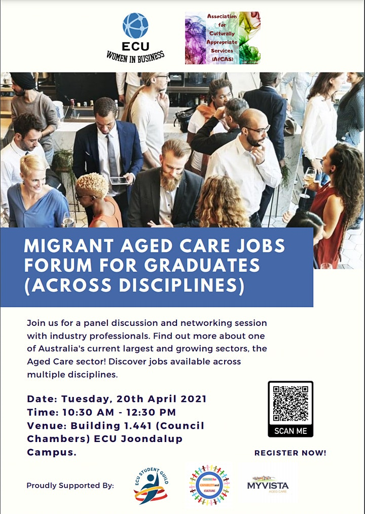 Migrant Aged Care Jobs Forum for Graduates (Across Disciplines) image