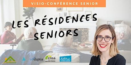 Visio-conférence senior GRATUITE - Les résidences seniors billets
