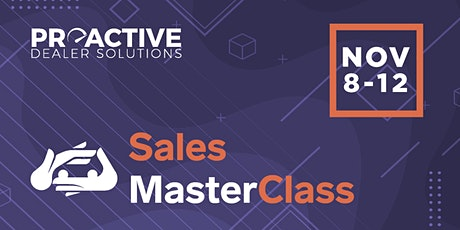 November - Sales MasterClass tickets