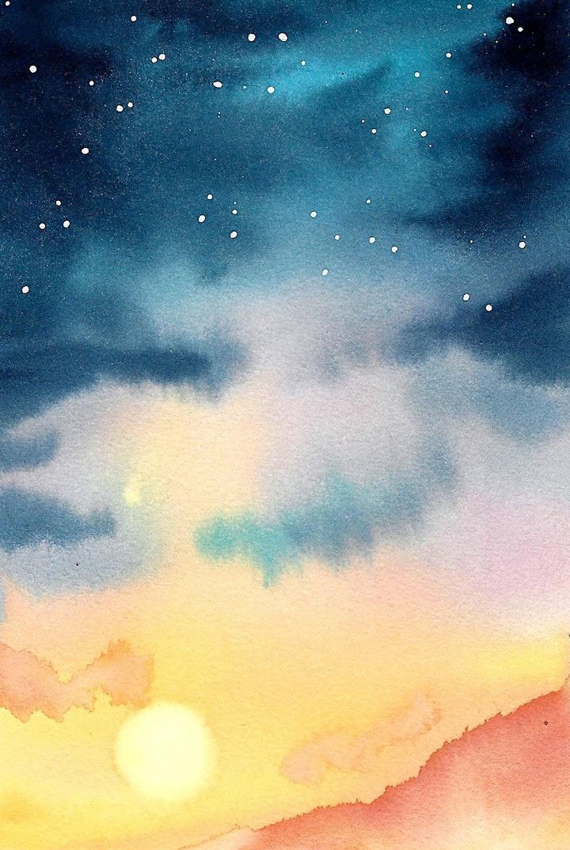 Aquarell Galaxy Doppel - meistere die Nachthimmel - Kreativ zu Hause: Bild