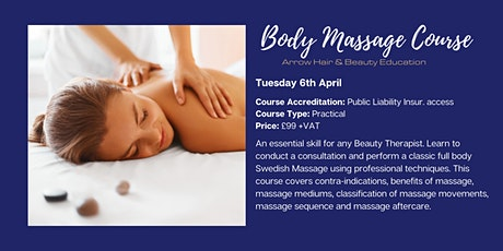 Body Massage Course - Arrow Hair & Beauty tickets
