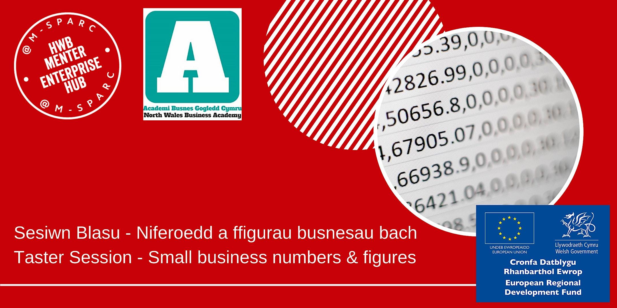 Niferoedd a ffigurau busnesau bach/Small business numbers & figures -Taster