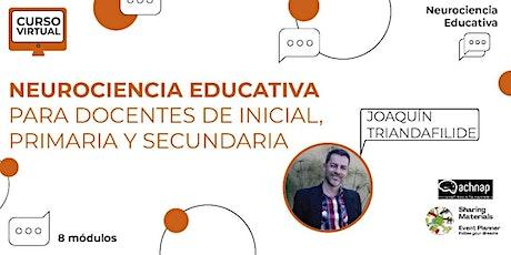 Curso NEUROCIENCIA EDUCATIVA para docentes Inicial, Primaria y Secundaria entradas