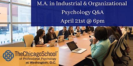 M.A. in Industrial Organizational Psychology Q&A tickets