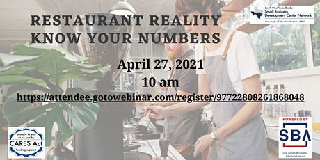 Restaurant Reality Know Your Numbers tickets