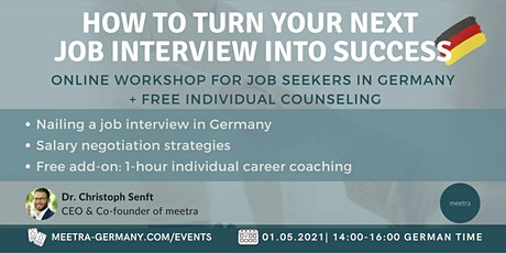 Career workshop: How to turn your next job interview into success tickets
