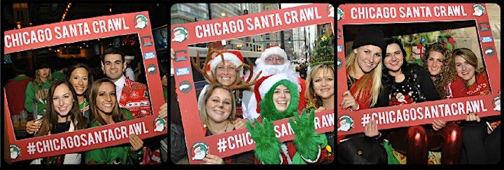 Chicago Santa Crawl in River North - A Holiday Themed Bar Crawl! image