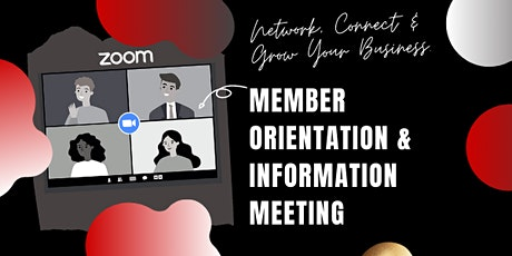 Member Orientation & Information Meeting (Business Organization) tickets