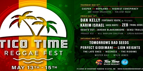 Tico Time Reggae Festival tickets
