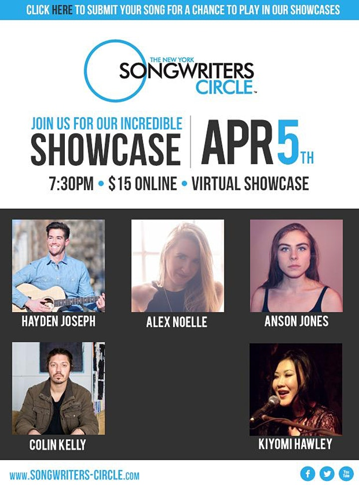 Monday April 5th New York Songwriter's Circle image