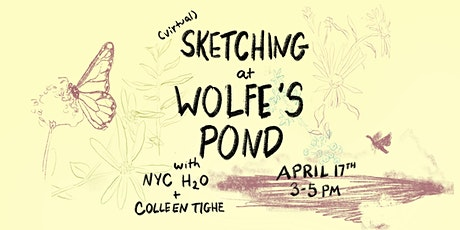 Sketching Wolfe's Pond tickets