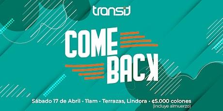 Transit ComeBack boletos