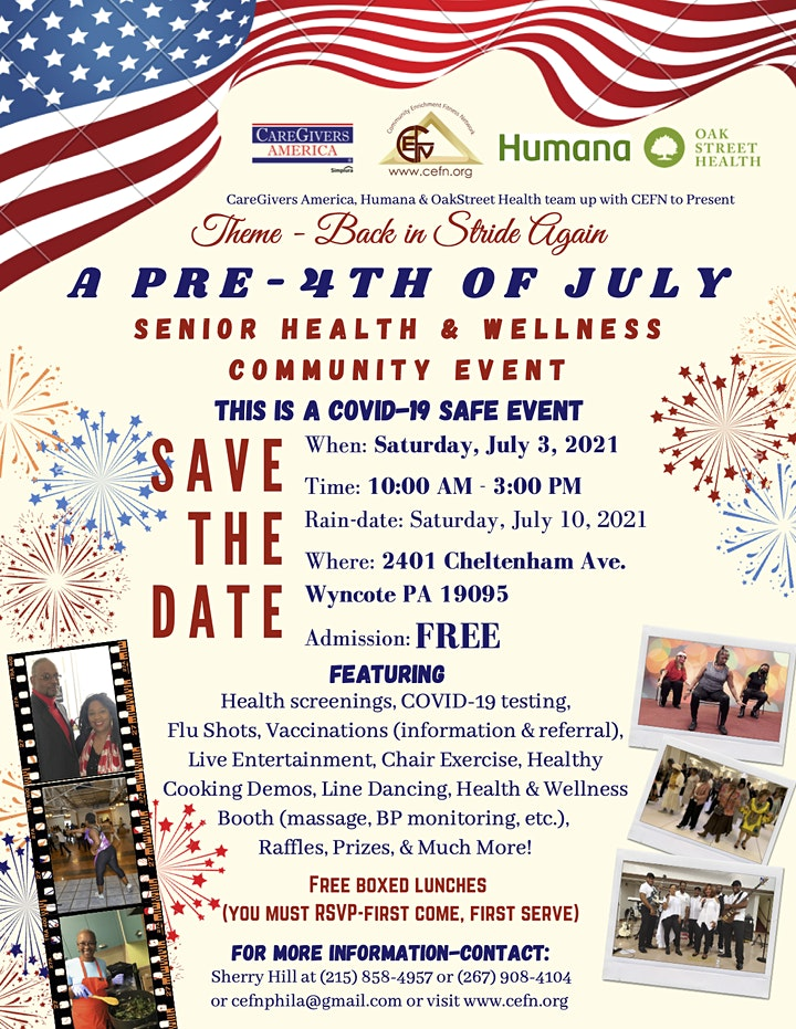 A Pre-4th of July Senior Health & Wellness Outdoor Community Event image