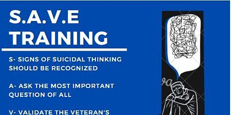 S.A.V.E. Training Veterans Suicide Prevention Training tickets
