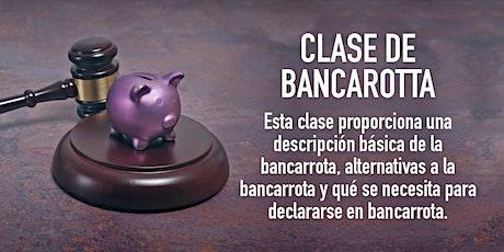 Clase de bancarotta tickets