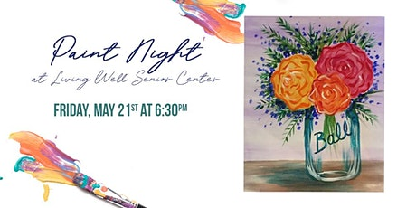 Paint Night at Living Well - Ball Flowers boletos